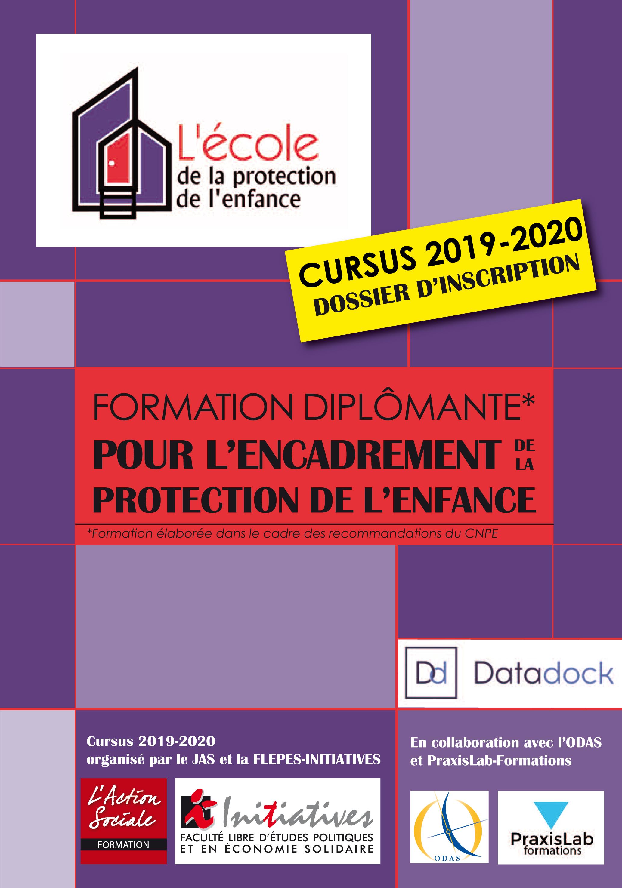 Couverture du programme du CURSUS diplômant 2019 2020